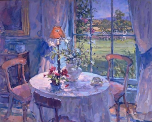 "View from the Dining Room by Susan Ryder RP NEAC oil on canvas signed 30"" x 36"" from Manya Igel Fine Arts"