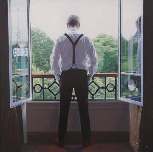 Iain Faulkner Paris Morning 2016 Oil on Canvas 91.5 x 91.5 cm (36 x 36 in) Pontone Gallery