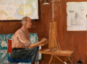 HRH The Duke of Edinburgh, Seago Painting, 1956-57 © HRH The Duke of Edinburgh