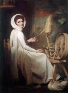 'Emma as the spinstress' by George Romney, 1784-85 ® Kenwood, English Heritage