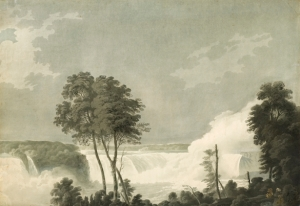J.W Edy after George Bulteel Fisher (1764-1834) The Niagara Falls. 1800 Aquatint with added colour 48.9 x 69.2 cm Charles Nugent