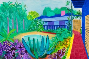 Garden 2015 Acrylic paint on canvas 1219 x 1828 mm Collection of the artist © David Hockney Photo Credit: Richard Schmidt