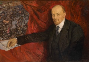 Isaak Brodsky, V.I.Lenin and Manifestation, 1919 Oil on canvas, 90 x 135 cm The State Historical Museum Photo (c) Provided with assistance from the State Museum and Exhibition Center ROSIZO