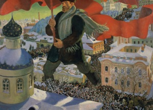 Boris Mikailovich Kustodiev, Bolshevik, 1920 Oil on canvas, 101 x 140.5 cm State Tretyakov Gallery Photo (c) State Tretyakov Gallery