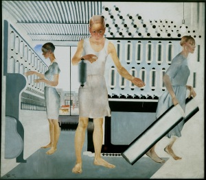 Alexander Deineka, Textile Workers, 1927 Oil on canvas, 161.5 x 185 cm State Russian Museum, St. Petersburg Photo (c) 2016, State Russian Museum, St. Petersburg (c) DACS 2016