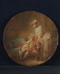 LOT 74 JEAN-HONORÉ FRAGONARD (GRASSE 1732-1806 PARIS) L'heureux ménage huile sur toile, circulaire Diam.: 34,2 cm. (12.3/4 in.) Estimation : €500.000-700.000 J.-H. FRAGONARD, THE HAPPY HOUSEHOLD, OIL ON CANVAS, CIRCULAR ©Christie's Images Ltd, 2017