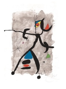 Joan Mirò (1893-1983) Constellation III Lithograph. 1975 78 x 57.5 cm Catalogue Joan Mirò. Les Livres Illustrés, Patrick Cramer Editeur 1989, n.195 Wallector