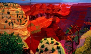 9 Canvas Study of the Grand Canyon 1998 Oil paint on nine canvases 1003 x 1689 mm Richard and Carolyn Dewey © David Hockney Photo Credit: Richard Schmidt