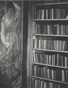 Patti Smith, Vanessa Bell's Library, Duncan Grant's painting of Vanessa Bell in her Mother's Dress, 2006, Gelatin silver print, edition of 10, 25.4 × 20.32 cm, © Patti Smith. Courtesy the artist and Robert Miller Gallery