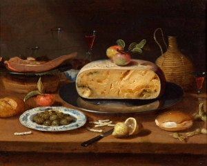Still Life with Cheese, circle of Jan Van Kessel II, c. 1650 Oil on copper, 16.5 x 20.3cm, © Holburne Museum