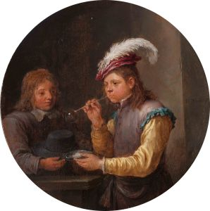 David Teniers the Younger, Boy Blowing Bubbles, c.1640, Oil on panel, 22 x 22cm, © Holburne Museum