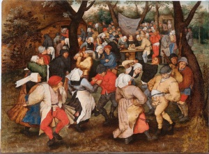 Pieter Brueghel the Younger, Wedding Dance in the Open Air, Oil on panel, 36.6 x 49cm, ©Holburne Museum. Photography by Dominic Brown