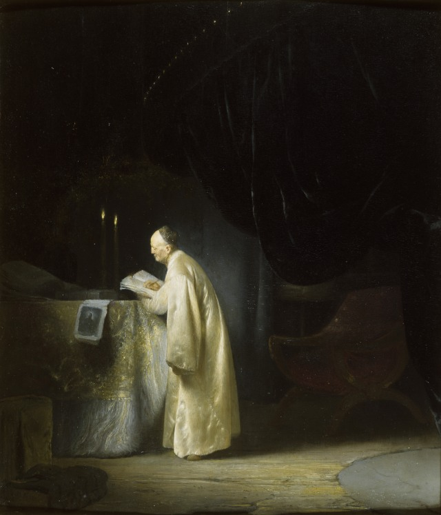 A Magus at a Table by Jan Lievens (Leyden 1607 ¿ Amsterdam 1674)