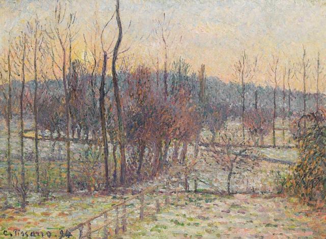 Pissarro - Neige, soleil couchant, Eragny