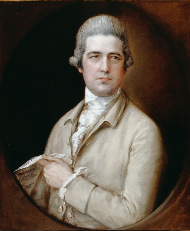 Thomas Gainsborough, Thomas Linley the elder, c. 1770, oil on canvas. By Permission of the Trustees of Dulwich Picture Gallery, London