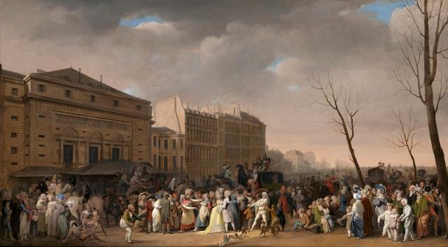 A Carnival on the Boulevard du Crime 1832
